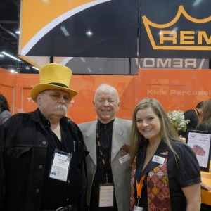 Bobby with Remo Belli and Bonnie Gillis